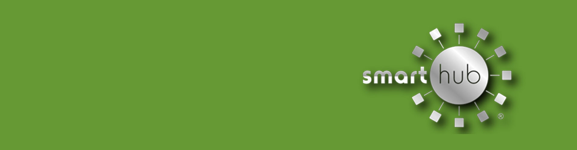 SmartHub logo on green background